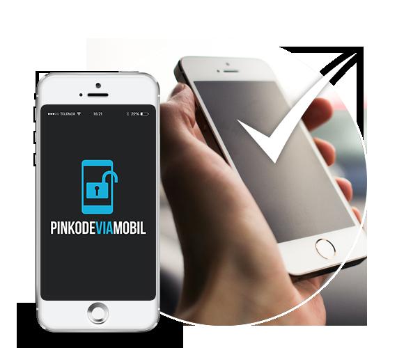 Pinkode og verifisering via mobil